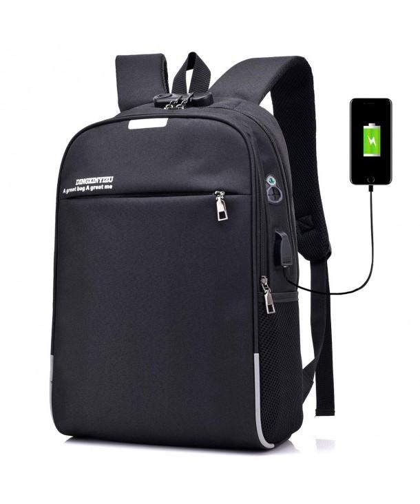 Backpack Student Bookbag Rucksack Earphone