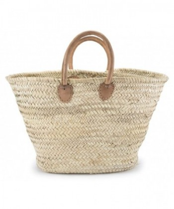 Moroccan Straw Shopper Leather Handles