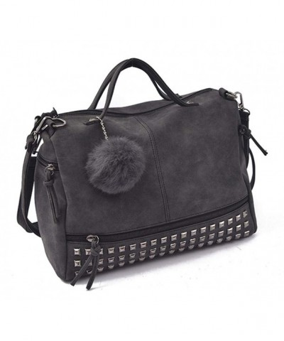 Motorcycle Studded Leather Handbag Satchel