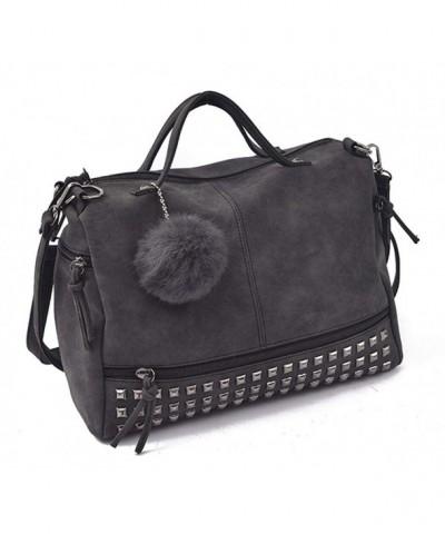 Motorcycle Studded Leather Handbag Satchel