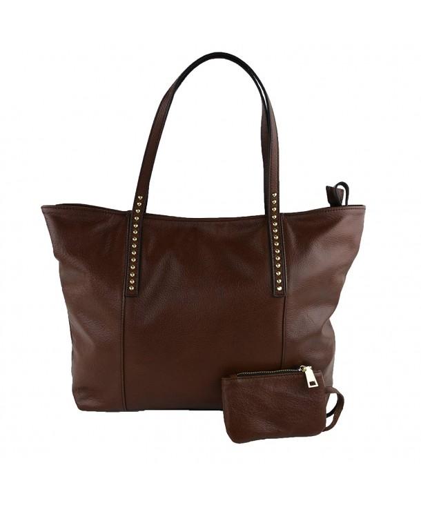 Geniune Leather Shoulder Handbag Caramel