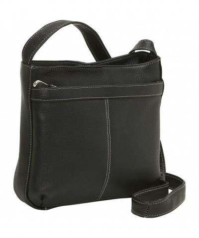 Donne Leather Shoulder Exterior Pocket