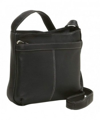 Donne Leather Shoulder Exterior Pocket