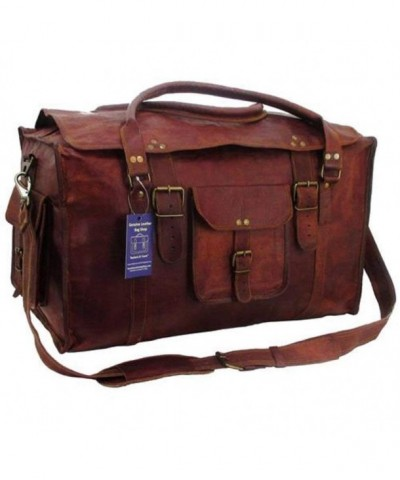 Retro Luggage Duffel Leather CLOVERS