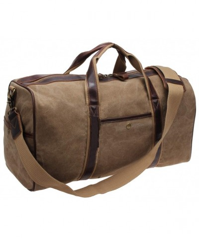 Weekender Leather Luggage i521 khaki
