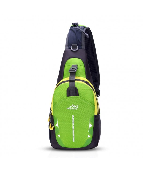 730445493204 Sling Bag Shoulder Backpack Crossbody Bag Hiking Men/Women Polyester -  Green - C2184A9L9X5