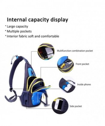 23a3c60efbc3 Sling Bag Shoulder Backpack Crossbody Bag Hiking Men/Women Polyester -  Green - C2184A9L9X5