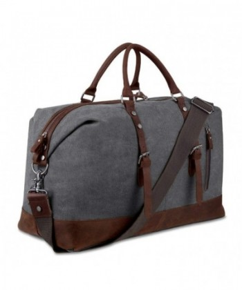 Canvas Overnight Genuine Leather Weekender