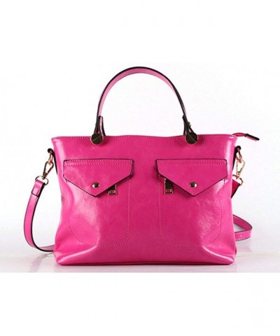 Zzfab Pockets Fashion Satchel Pink