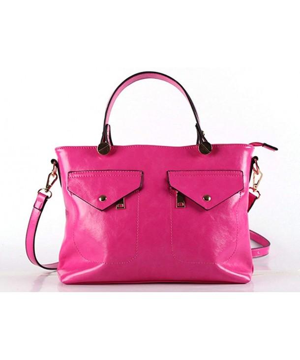Zzfab Pockets Fashion Satchel Pink