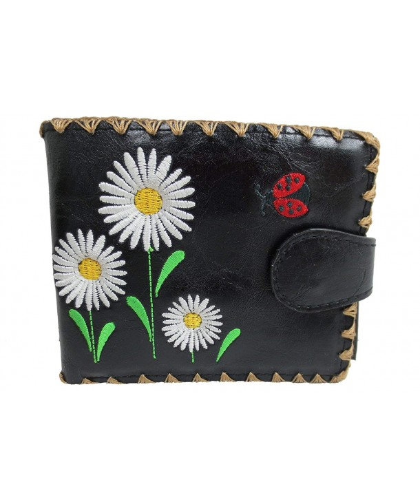 Lavishy Ladybug Embroidered Medium Wallet