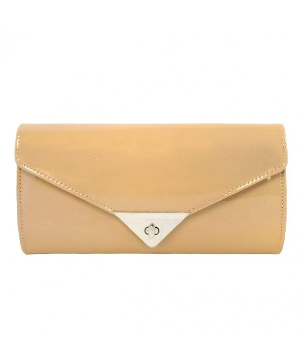 JNB Womens Patent Leather Clutch