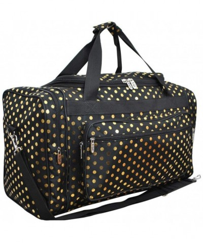 Polka Dot NGIL Canvas Shoulder Duffle