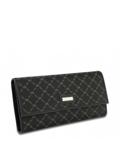 Rioni Signature Black Checkbook Wallet