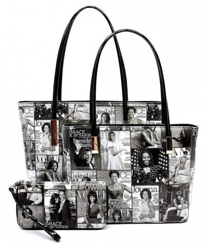 Magazine Collage Shopper Michelle Handbag