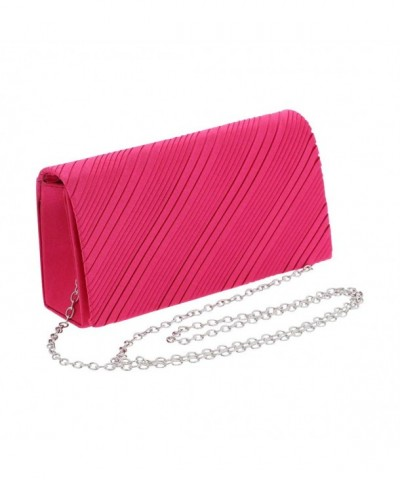 Satin Evening Cocktail Bag Fuschia