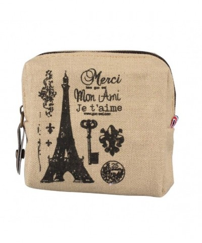 DZT1968 Canvas Square Eiffel Wallet