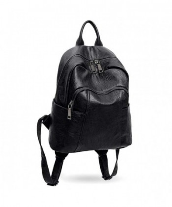 UTO Backpack Leather Rucksack Shoulder