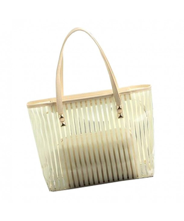 FTSUCQ Transparent Handbag Shoulder Two pieces