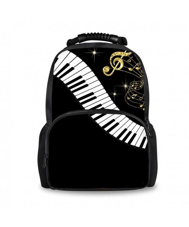 Fashion Music Guitar Printing Men Travel Boys School Backpack - music notes  with piano-1 - C718EW0OTT8