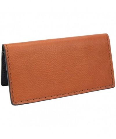 Genuine Leather Handmade Checkbook Cover