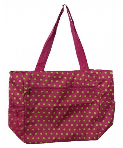 Large Shopping Unique Traveler Dots Pink