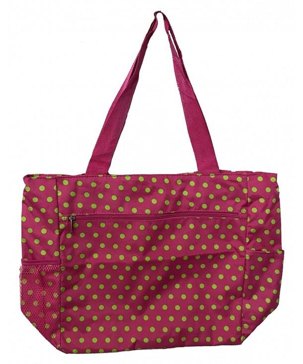 Large Shopping Unique Traveler Dots Pink