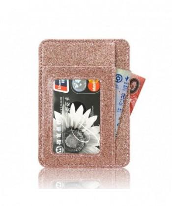 Pocket Minimalist Wallets Leather Blocking