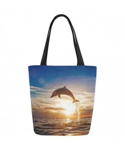 InterestPrint Beautiful Jumping Dolphin Shoulder