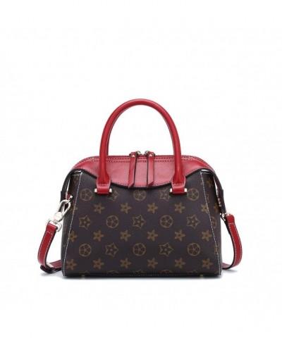 LANVERA Handbags Vintage Pattern Leather