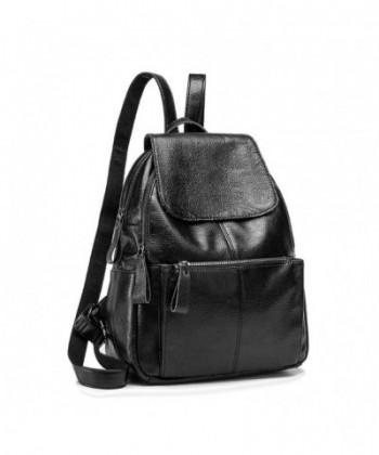 Genuine Leather Backpack Schoolbag Shoulders