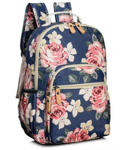 Leaper Floral Backpack Bookbag Satchel