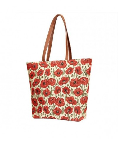 Floral Tapestry Shoulder Handbag Flowers
