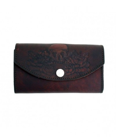 Womens Leather Checkbook Wallet Pocketbook
