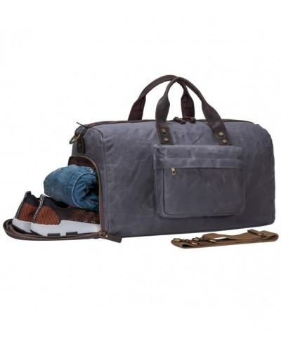 S ZONE Vintage Leather Waterproof Luggage