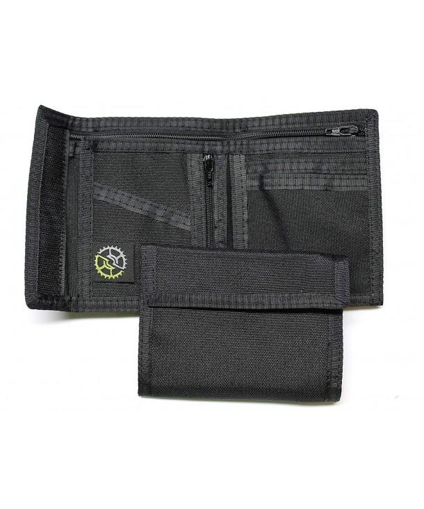 Nylon Billfold Wallet Zippered Pocket