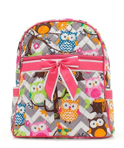 Chevron Stripe Small Quilted Backpack