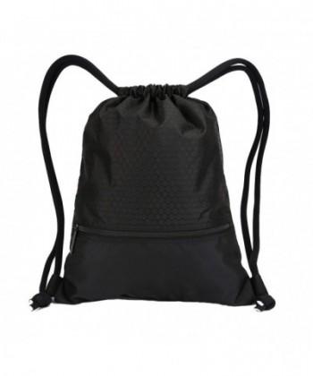 Drawstring Pockets Waterproof Capacity Backpack