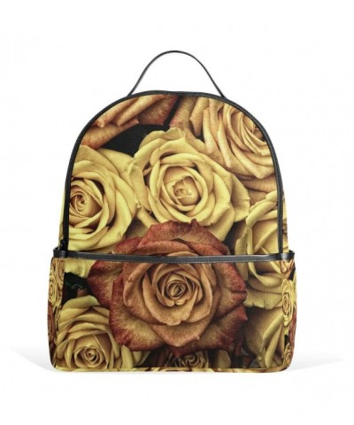 FBTRUST Yellow pattern Backpack Daypack
