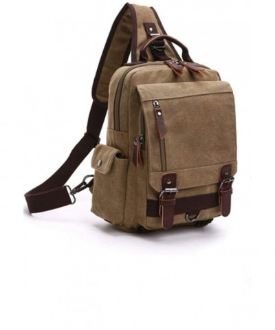 Sechunk Canvas Leather Shoulder messenger_bag