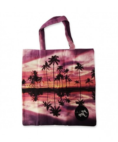 Canvas Tote Shopping Tress Print