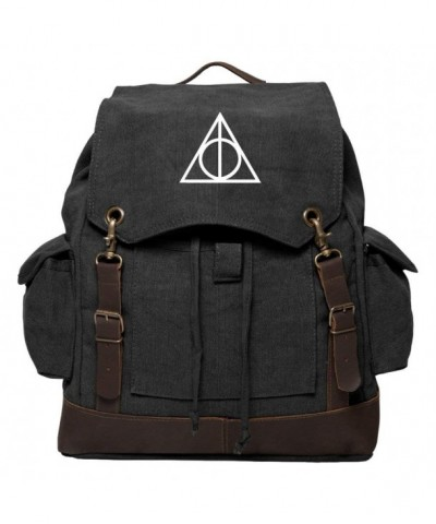 Deathly Hallows Rucksack Backpack Leather