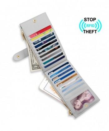 Womens Checkbook Blocking Bi fold Pocket Gray