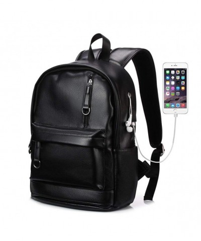 KISSUN Backpack Leather Charging Computer
