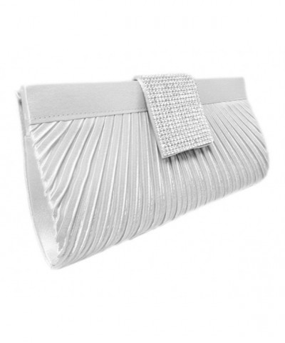 Brilliant Crystal Clutch 10 inch Silver