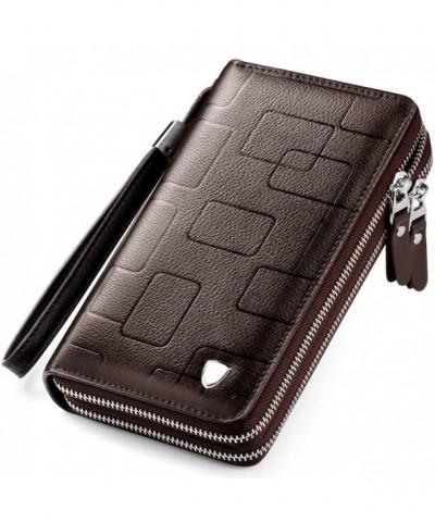 Clutch Handbag Leather Zipper Business