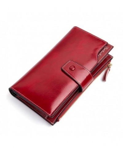 BOSTANTEN Genuine Leather Wallets Capacity