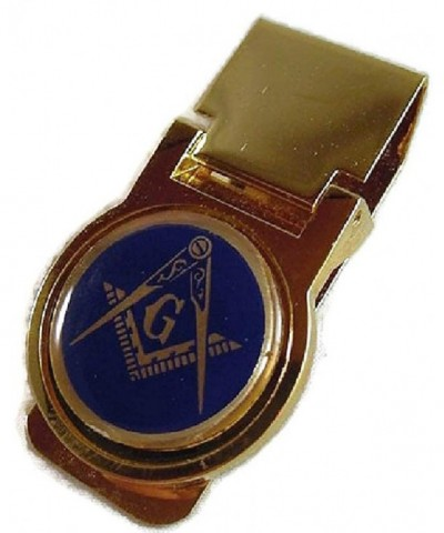 MASONIC GOLD PLATED MONEY CLIP