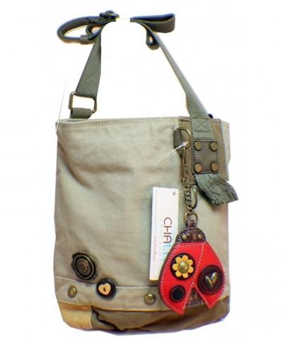 Ladybug Patch Crossbody Bag Sand