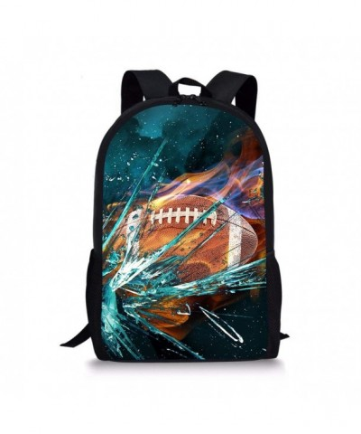 17inch Backpack Shoulder Daypack Football